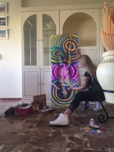 gesecolor acrobat painting in process 2